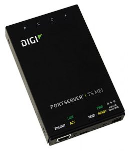 Digi PortServer TS MEI 4 port RS-232/422/485 RJ-45 Serial to Ethernet Device Server, 9-30VDC Image