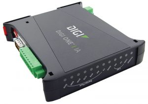 Digi One IA 1 port RS-232/422/485 Din Rail Mounted Serial to Ethernet Device Server Image
