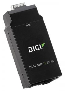 Digi One SP IA 1 port RS-232/422/485 DB-9 Serial to Ethernet Device Server with Din Rail Kit Worldwide Image