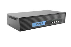 IPGARD 4-Port Dual-head Secure Pro DP to HDMI KVM Switch with KB/Mouse USB emulation and CAC port Image
