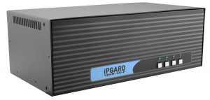 IPGARD 4-Port Quad-head Secure Pro DP to HDMI KVM Switch with KB/Mouse USB emulation and CAC port Image
