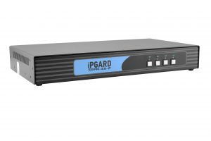 IPGARD 4-Port Single-head Secure Pro DP KVM Switch with KB/Mouse USB emulation and CAC port Image