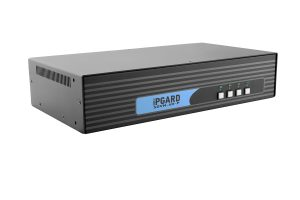 IPGARD 4-Port Dual-head Secure Pro DVI-I KVM Switch with KB/Mouse USB emulation and CAC port Image