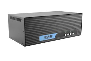 IPGARD 4-Port Quad-head Secure Pro DVI-I KVM Switch with KB/Mouse USB emulation and CAC port Image