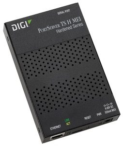 Digi PortServer TS H MEI 1 port extended temp/hardened RS-232/422/485  RJ-45 Serial to Ethernet Device Server, 9-30VDC Image