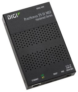 Digi PortServer TS H MEI 2 port extended temp/hardened RS-232/422/485  RJ45 Serial to Ethernet Device Server, 9-30VDC Image