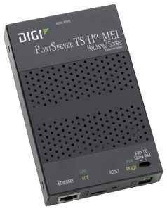 Digi PortServer TS Hcc MEI 2 port ext temp/hardened RS-232/422/485  RJ-45 Serial to Ethernet Device Server 9-30VDC (NEMA TS 2) Image