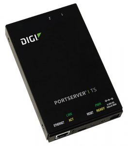 Digi PortServer TS 2 port RS-232 RJ-45 Serial to Ethernet Device Server, 9-30VDC includes 12V/.5A Wall Mount power supply Worldwide (consolidate w/ 70002044) Image